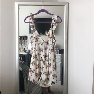Floral romper with open back